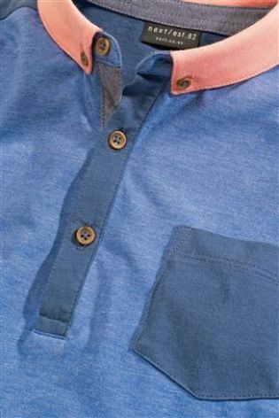 Buy Blue Colourblock Polo (3-16yrs) from the Next UK online shop