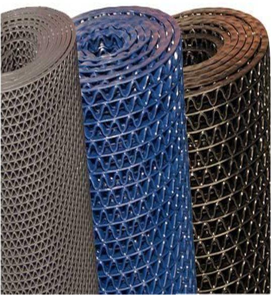 Многоцелевые ячеистые покрытия оптом и в розницу. Дорожка змейка (zig-zag) для бассейна, синяя, размер 1200х12000х8 мм