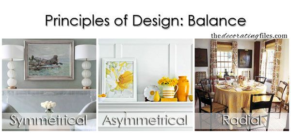 Principles Of Design Balance One Of The Basic Decorating Principles That Helps You Decorate