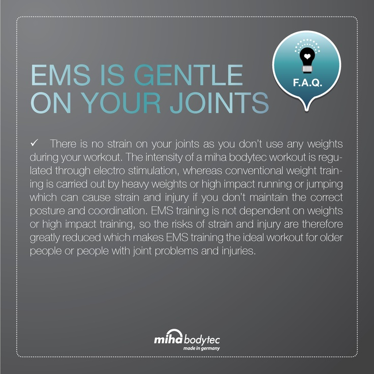 ems training is gentle on your joints