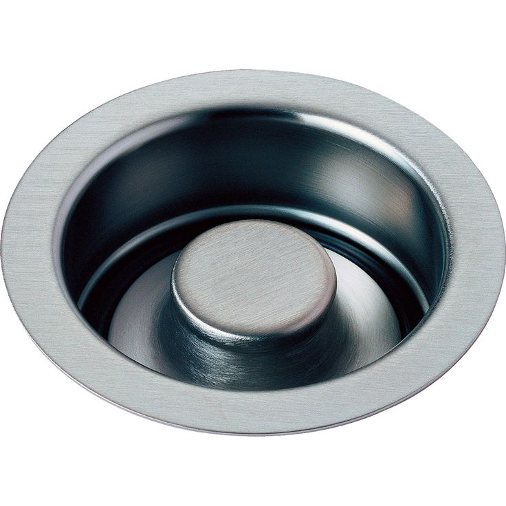 """Delta 4-1/2"""" Arctic Stainless Kitchen Sink Disposal Flange and Stopper 638410"""