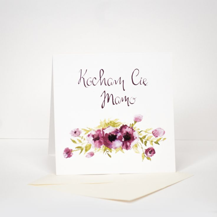 watercolor and callygraphy Mother's Day card