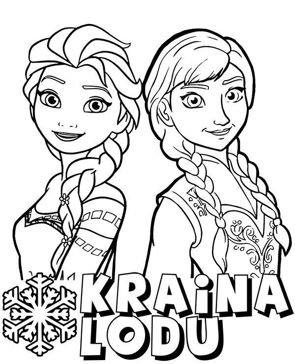 Kolorowanka Kraina Lodu Female Sketch Art Elsa
