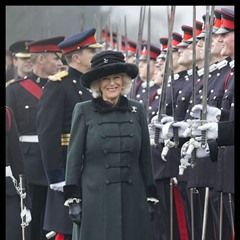 Duchess of Cornwall inspects the Sovereign's Parade at the Royal Military Academy Sandhurst