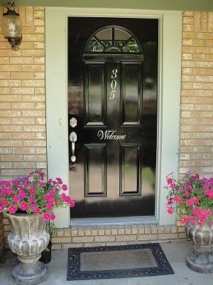 Cricut Vinyl Projects | front door cricut-projects by Pam1306