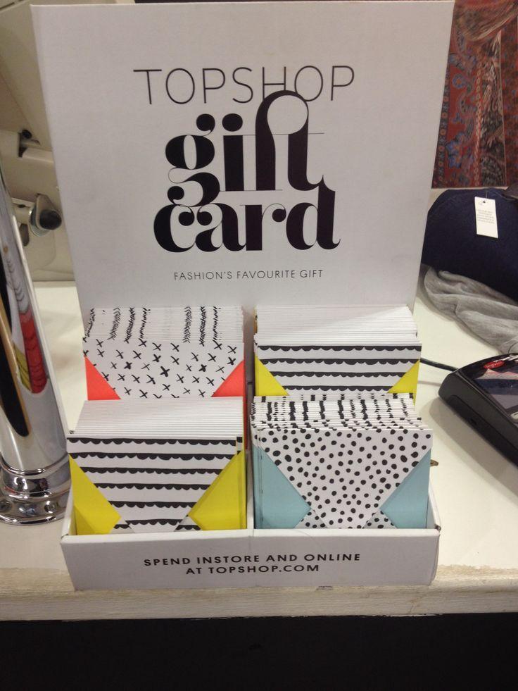 Topshop gift card - standard - love top shop :-)