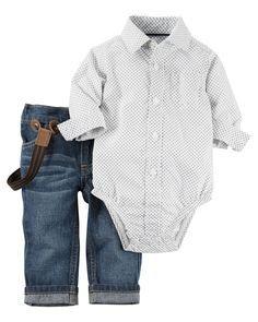 Ensemble 2 pièces jean et cache-couche pour bébés garçons   Carter's OshKosh Canada