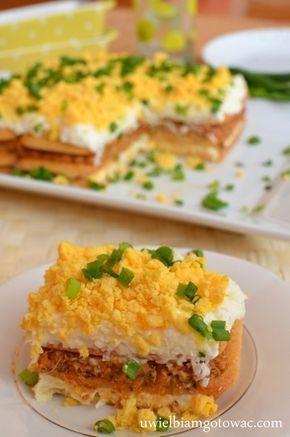 Sałatka na krakersach (Sałatka jak ciasto)