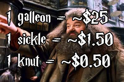 """Using this, aubieismyhomie estimated how much wizard money would be compared to Muggle money. 