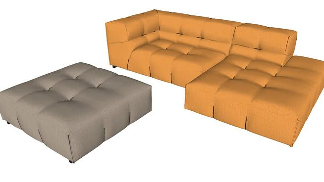 Large preview of 3D Model of TUFTY-TOO sofa B&B