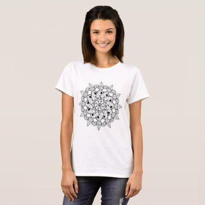 Mandala meditation yoga shirt with customizable bg - drawing sketch design graphic draw personalize
