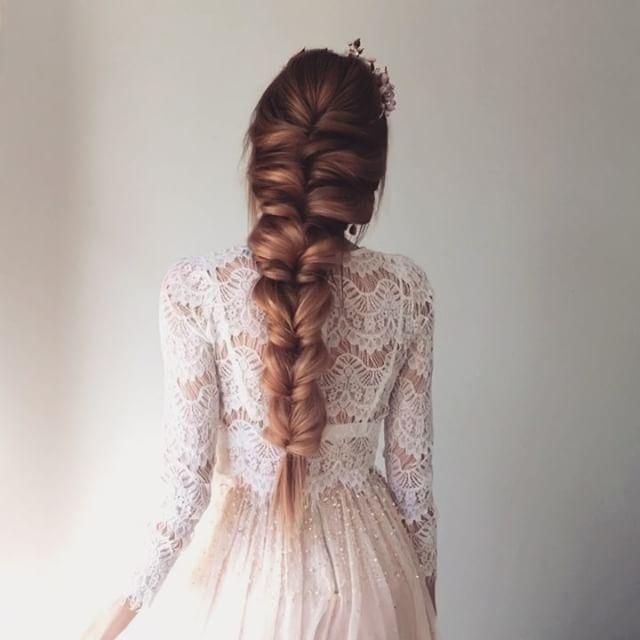 "Bridal Updo  using amazing #UlyanaAsterExtensions  Russian hair 24"" 180g from  @ulyana.aster.store . Press play model @_natalie_ryan_ #ulyanaastervideo"