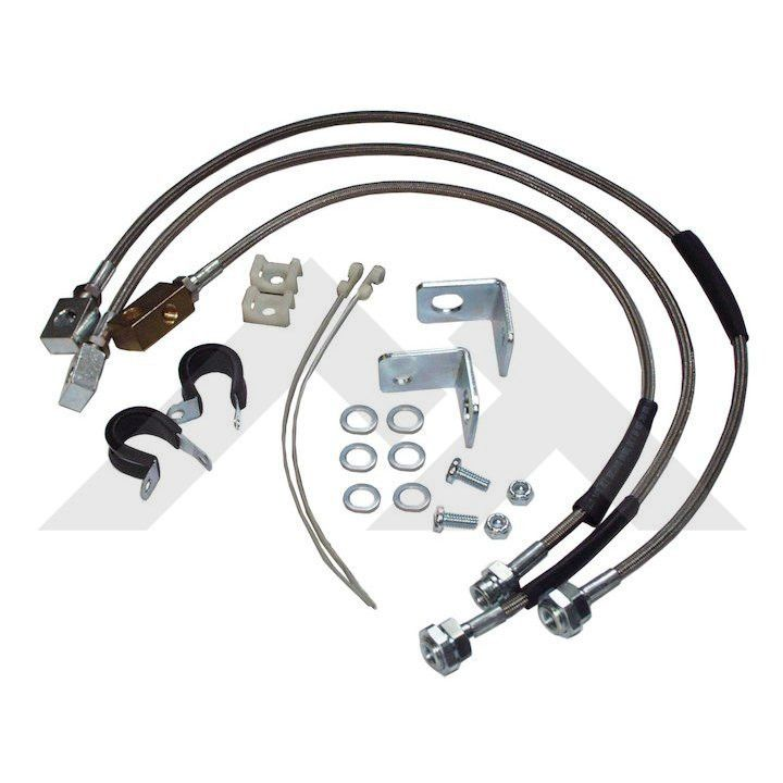 RT Off-Road 31015 Stainless Steel Extended Brake Lines