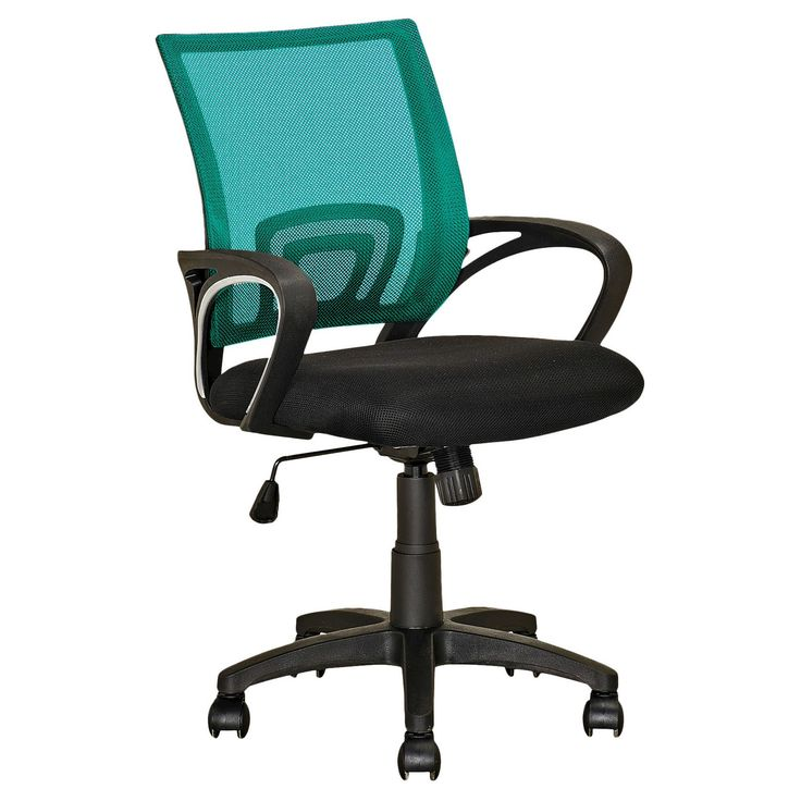 Style your home desk with the convenient LOF-320-O office chair from CorLiving featuring a black fabric seat, contoured teal mesh back support, gas lift and black legs with rolling wheels. The comfortable, contemporary design will accent any desk setting while offering the option to adjust to your desk height and body shape with ease. A great addition to any home!