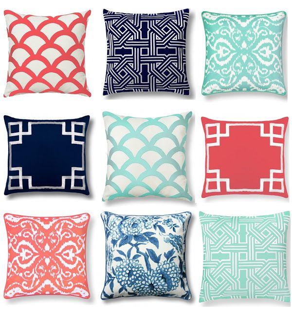 Color Scheme C Wonder Home Decor Throw Pillows Graphic Navy Mint Pistachio Olive Lane