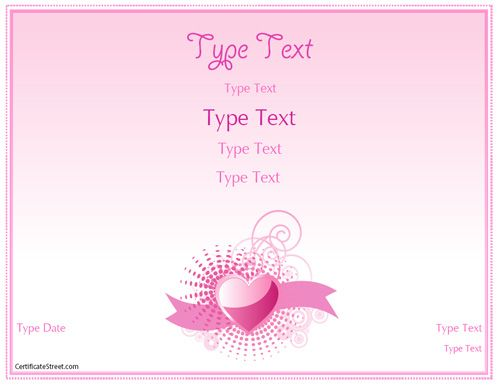 Relationships certificate romance love certificate for Certificate street templates blank