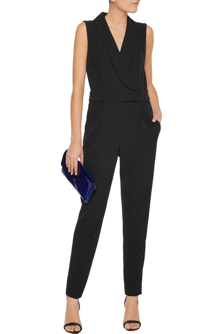 Shop on-sale Milly Wrap-effect stretch-crepe jumpsuit. Browse other discount designer Jumpsuits & more on The Most Fashionable Fashion Outlet, THE OUTNET.COM