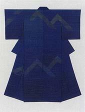 'Blue Valley,' tsumugi weave // SHIMURA Fukumi 1993