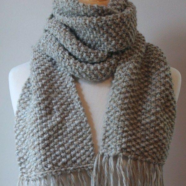 Free Beginner Scarf Knitting Pattern   Easy scarf knitting ...