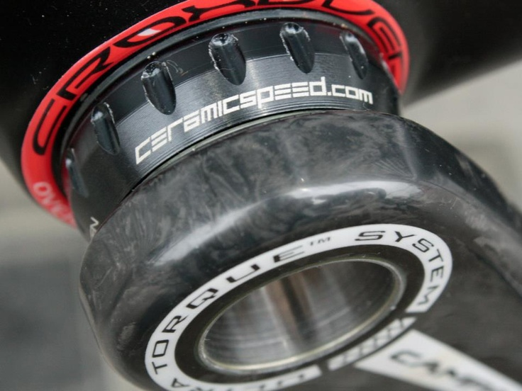 #CeramicSpeed #Ceramic bearings throughout the bike (BB, Hubs and Jockey wheels) help save up to 10 Watts. A huge power saving. #pinarello www.7hundred.co.uk