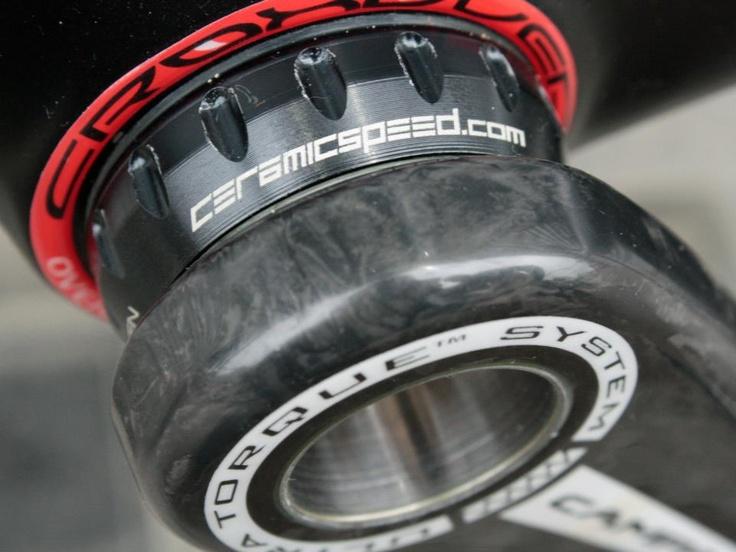 #CeramicSpeed #Ceramic bearings throughout the bike (BB, Hubs and Jockey wheels) help save up to 10 Watts. A huge power saving. #pinarello www.7hundred.co.uk