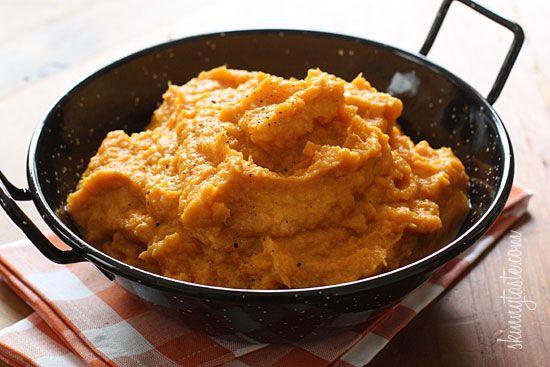 Garlic Sweet Potato Mash - Need a few good reasons to pass on plain old potatoes and get sweet on sweet potatoes instead?