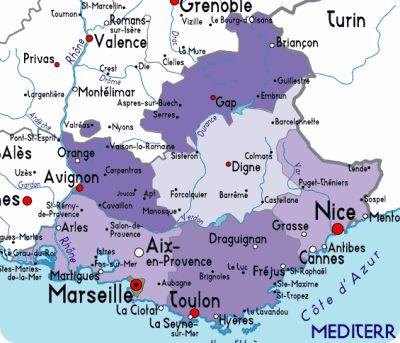 Lavender Fields France Map.Carte De Provence Tourismepaca Map Carte Provence A Provence