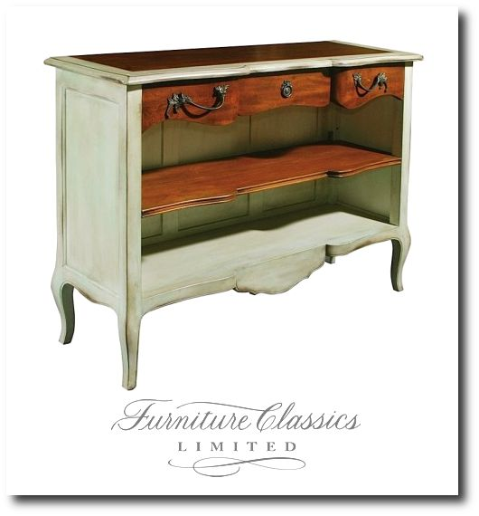 Painted French Provence Reproduction Furniture Dresser No Drawers Open  Shelves