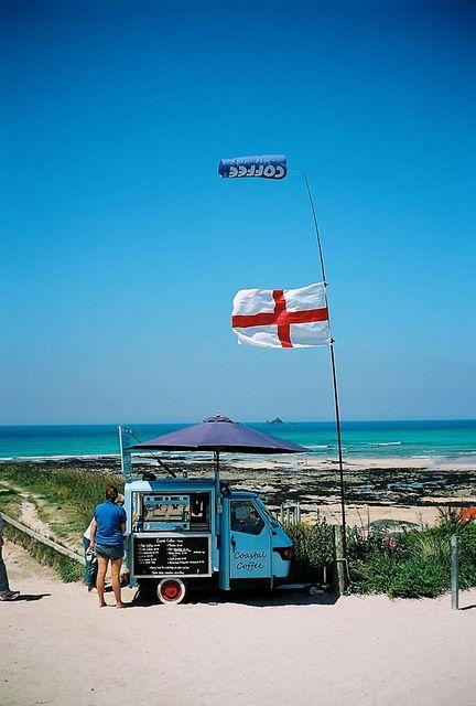Coastal Coffee. Constantine Bay, Cornwall, England by J.F MPLS, via Flickr