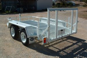 Custom built machinery trailer made by Complete Weld in Mudgee, NSW, Australia.