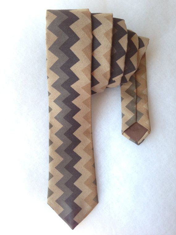 Chevron Zigzag Tie  Straight by WatfordTies on Etsy