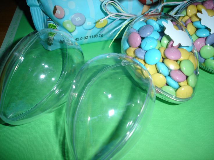 m&m's In Plastic eggs Good Easter Basket Filler or Party Favor