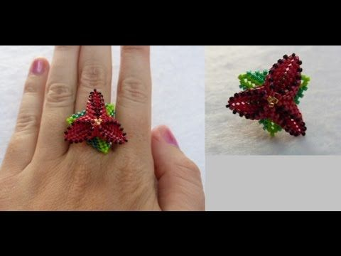 Tutorial anillo flor triangular - YouTube