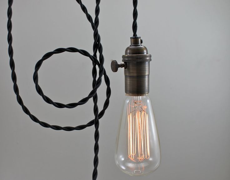 Delightful Black Modern Bare Bulb Pendant Light Simple By Scandalaskan