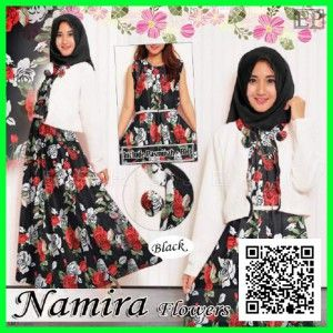 baju-gamis-maxi-dress-namira-flower-modern-mgs34