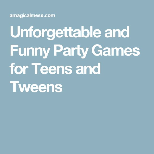 Funny Teen Party Games 34