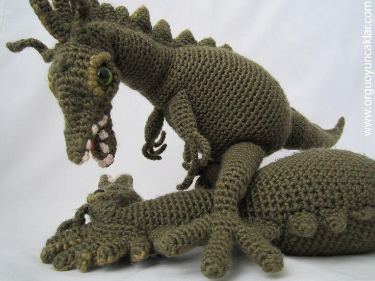 Amigurumi динозавров Pattern по Denizmum на Etsy