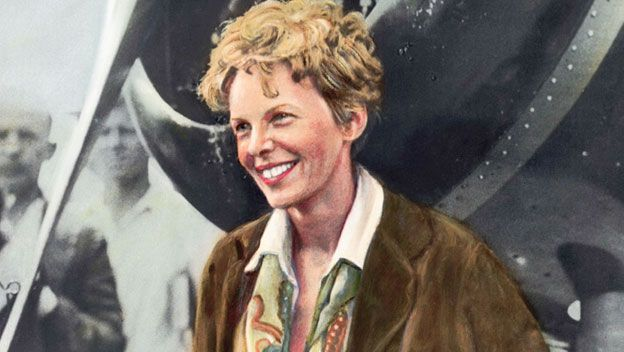 "Amelia Mary Earhart (July 24, 1897 – disappeared July 2, 1937) was an American aviation pioneer & author. Earhart was the first female aviator to fly solo across the Atlantic Ocean.  She would be remembered for her courage, vision, & groundbreaking achievements, both in aviation & for women. Earhart was famous for wearing a suit or dress instead of the ""high-bread aviation togs,"" a close-fitting hat instead of a helmet,"