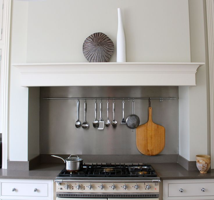 Contemporary cooker - range cooker within chimney breast