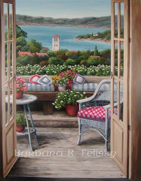 Balcony With A Bay View ~ Barbara Felisky