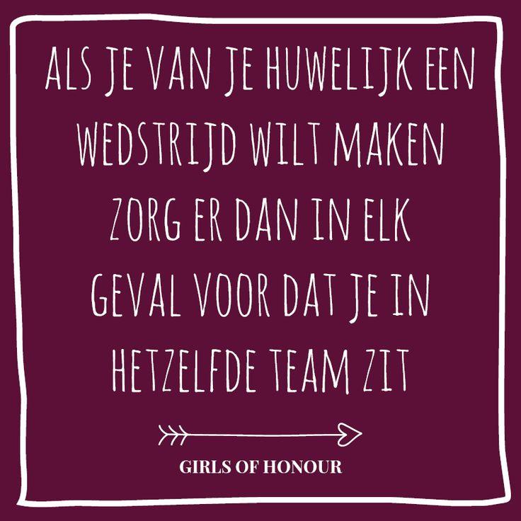 Ben jij net zo fanatiek als wij? // Girls of honour #liefde #liefdesquote #quote #tegeltjeswijsheid #trouwen #verloofd #trouwblog #girlsofhonour #huwelijk