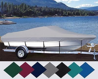 CUSTOM FIT BOAT COVER SEA NYMPH 170 FISHING MACHINE BASS SIDE CONS O/B 1995-1998