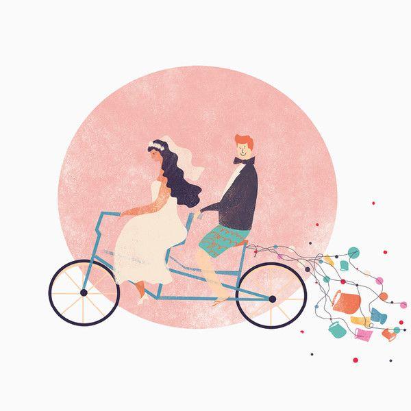 JUST MARRIED! KARTKA ŚLUBNA OD PIESKOT - PIES_KOT - Zaproszenia ślubne