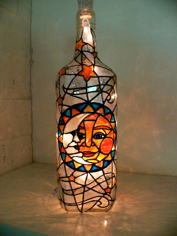 77 best images about liquor bottle ideas lights on pinterest for Liquor bottle art
