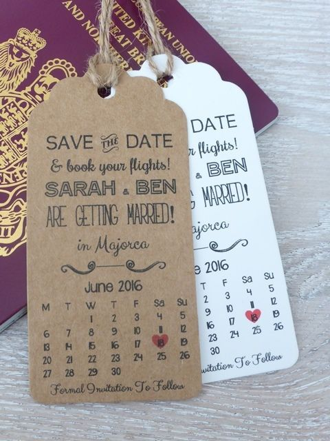 Perfect Calendar Destination Wedding Save The Date, Invitation, Travel Wedding,  Rustic