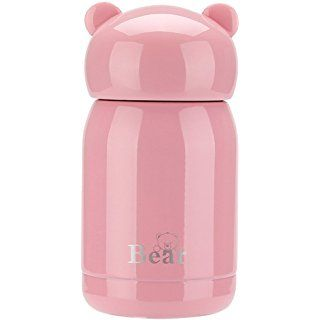 ZHNONE Portable Thermos Travel Mug Cute Design Vacuum Insulated Stainless Steel Thermos Water Bottle, Mini Size Coffee Thermos & Vacuum Flask