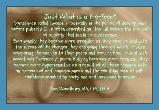"""Just What is a Preteen? by Lon Woodbury. Articles from various authors and the top Preteen and Young Adult programs are available in part 4 from the series of e-books from """"The Parent Empowerment Handbook"""" available at amazon.com"""
