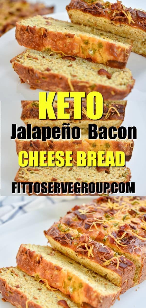 Keto Jalapeño Bacon Cheese Bread has a rich cheesy, slightly spicy and smoky bacon flavor. It's perfect as a side, for a quick breakfast or toasted...