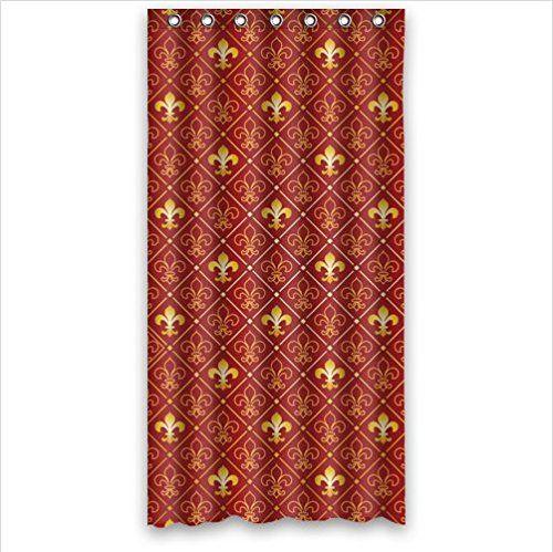 Unique Design Fleur De Lis Logo Art Bathroom Decor 100% Polyester Shower  Curtain (36