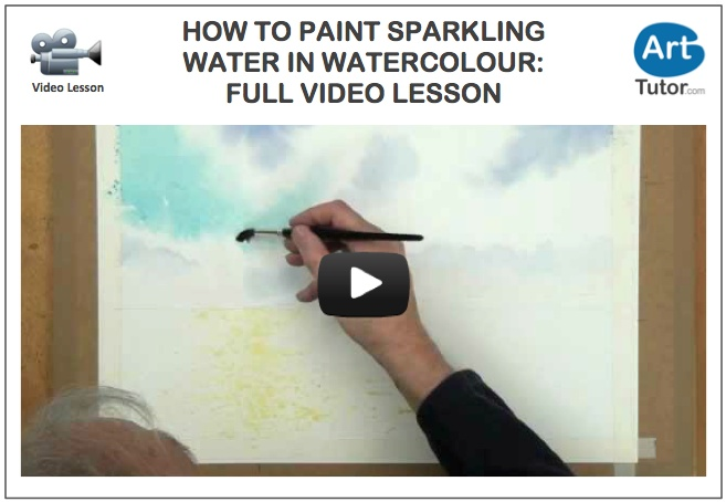 Art tutor Rob Dudley demonstrates a unique way to use masking fluid in this seascape watercolour lesson. #watercolour